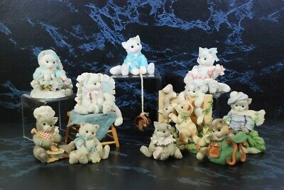 Calico Kittens Lot Of 10 Kitty Cat Figurines 1991-2000