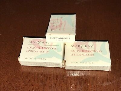 Lot Of 3  Mary Kay unlimited options lipstick adjuster LIGHT ADJUSTER 1739 - NEW