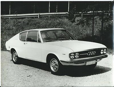 Audi 100 Coupe 1969 Original Press Photograph Autogerma #1 Stamped front View