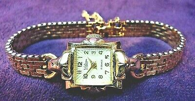 Serviced~Vintage Art Deco VALJEAN 17J Swiss~10KGF Womens Watch~Starburst Dial