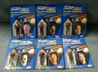 Star Trek The Next Generation Galoob Poseable Action Figure Lot of 6