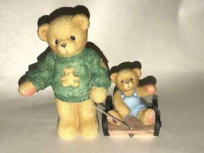 Cherished Teddies Retired Russell & Ross Thanks for Teaching Figurine #661783