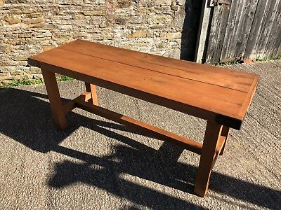 """6FT x 25"""" RECLAIMED PITCH PINE INDUSTRIAL SIDE DINING TABLE STEEL CORNERS RETRO"""