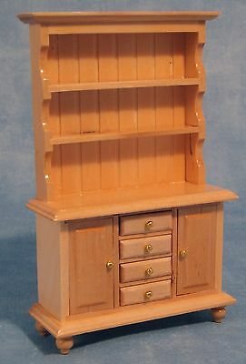 "Dolls House 1/12 Scale Welsh Dresser In ""pine""/ Light Coloured Wood"