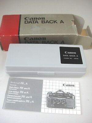 CANON DATA BACK A to Fit Canon  A-1 AE-1 PROGRAM, AE-1, AT-1 With Case & Box