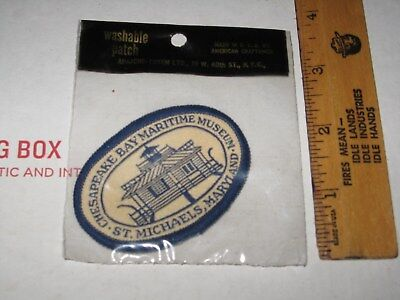 vtg Embroidered PATCH Sealed in Bag Chesapeake Bay Martime Museum St Michaels MD