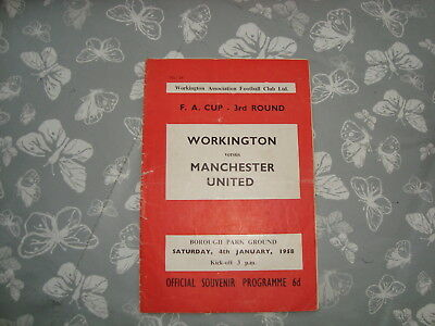 Workington v Manchester United FA Cup January 1958 - hard to get