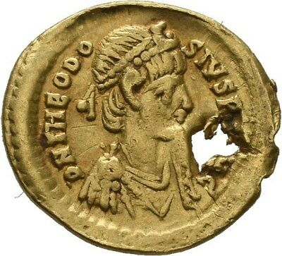 Lanz Roman Empire Theodosius Tremissis Constantinople Victory Gold §goa2681