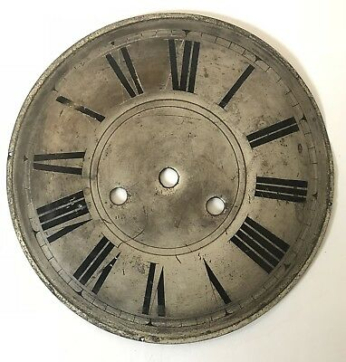 Antique Silvered Clock Dial
