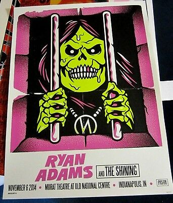 Ryan Adams And The Shining 2014 Numbered Limited Edition Concert Poster Minsloff