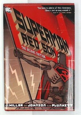 SUPERMAN: RED SON - THE DELUXE EDITION Hardcover Graphic Novel MARK MILLAR - N42