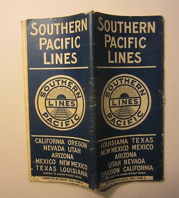 Old 1926 - S.P. Railroad - TIME TABLES Brochure - Aug. - Lake Tahoe Service Ad