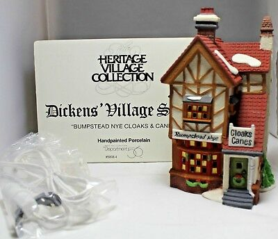 """Department 56 """"Bumpstead Nye Cloaks & Canes"""" Dickens' Village #58084 NEW"""