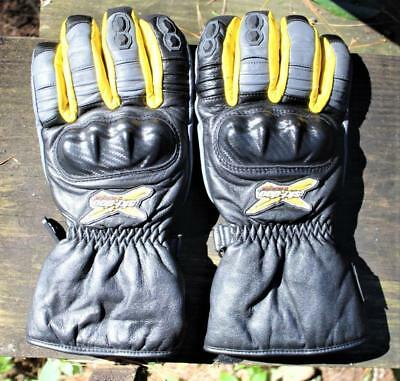 X-Team Ski Doo Leather Snowmobile Gloves,TG/XL,Reinforced Knuckles,Fingers, 2009