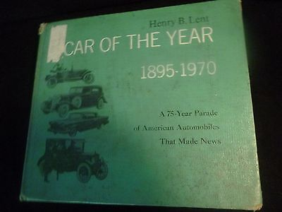 """Book  """"car Of The Year 1895-1970"""" By Harry B Lent"""