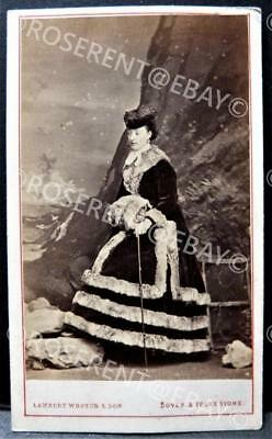 1860s the Marchioness of Hastings - Dover & Folkestone maker  - CDV Photo