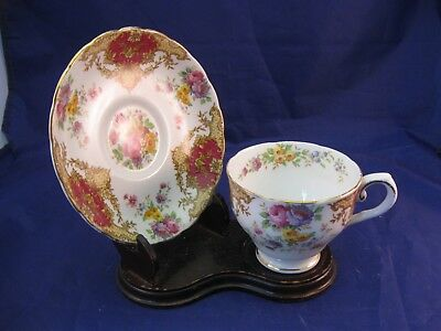 """Fine Vintage Tuscan Tea Cup and Saucer - """"Provence"""". Pattern - England"""