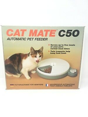 Cat Mate C50 Automatic Pet Feeder Five Meals NEW #77