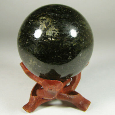 """2"""" HYPERSTHENE Coppernite Sheen Sphere Ball w/ Stand - India - 50mm"""