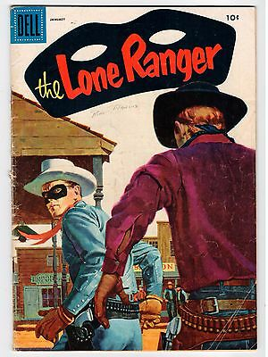 Dell THE LONE RANGER #91 January 1956 Vintage Comic