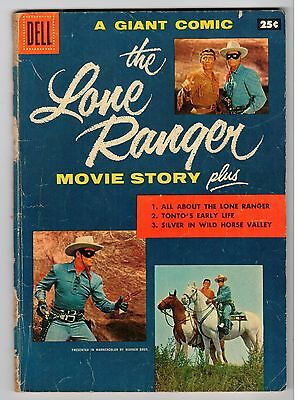 Dell Giant THE LONE RANGER MOVIE STORY 1956 (No Back Cover) Vintage Comic