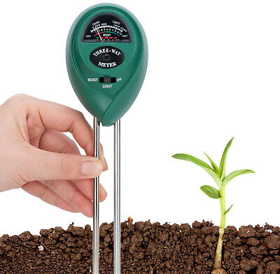 Covvy Soil Tester 3 in 1 Water Moisture Meter Acidity Humidity Light Probe Test