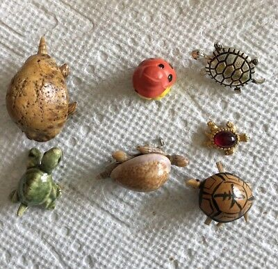 Collection Of 7 Tiny Turtles Vtg Estate Find