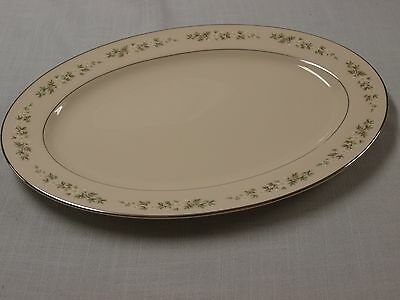 "Lenox China BROOKDALE Oval Serving Platter 16"" Medium"