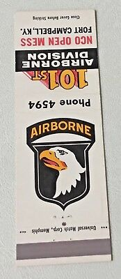 Empty Match Cover  101st Airborne Division NCO Open Mess