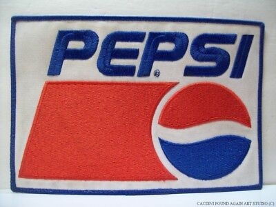 """Vintage Pepsi Embroidered Patch Advertising Soda Uniform Cola Badge 9"""" by 6"""""""