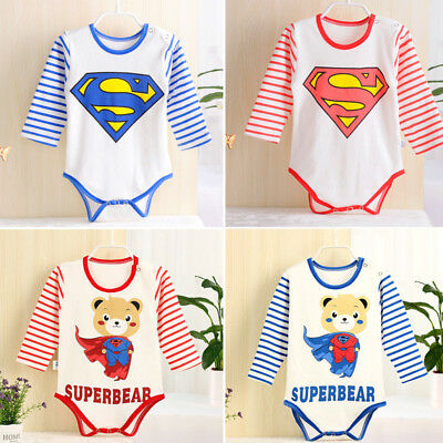 Newborn Infant Baby Kids Girls Bodysuit Romper Jumpsuit Outfits Clothes Soft