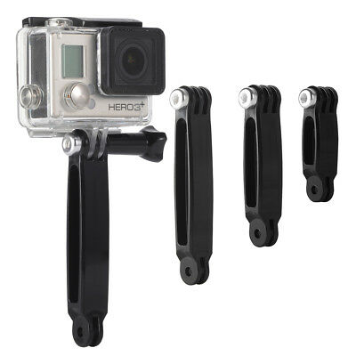 3 in 1 Extension Arm Pole Mount Helmet Set for Gopro HD Hero 4 3+ 3 2 1 OS260