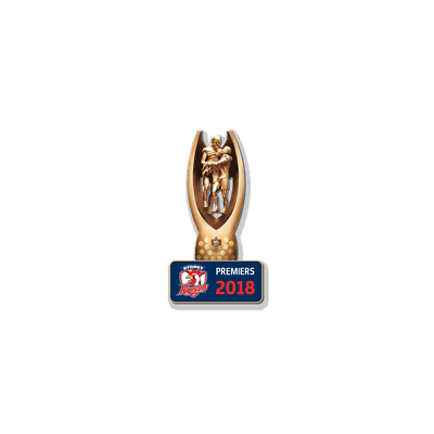 333287 Sydney Roosters 2018 Premiers Nrl Trophy Lapel Pin Badge