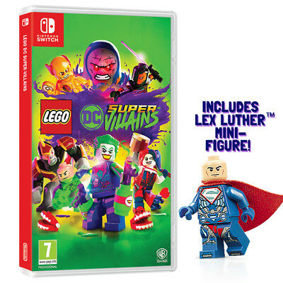 Lego DC Super Villains Nintendo Switch Game (Includes Lex Luthor Mini-Figure)