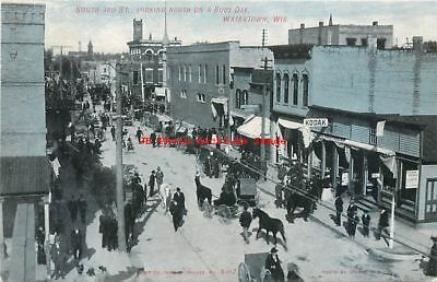 WI, Watertown, Wisconsin, South Third St, Business Section, Kropp Pub No 4367