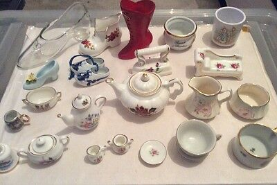 Vintage huge collection of china minitures various types