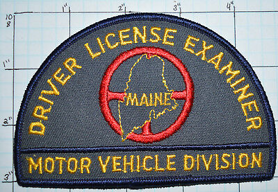 Maine Motor Vehicle Division Driver License Examiner Patch
