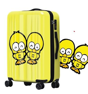 A737 Lock Universal Wheel Cartoon Duck Travel Suitcase Luggage 20 Inches W