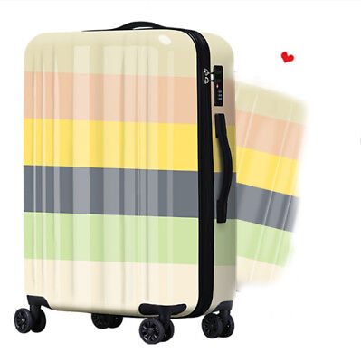 A170 Chromatic Stripe Universal Wheel ABS+PC Travel Suitcase Luggage 20 Inches W