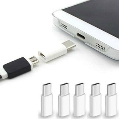 10 Pack Micro USB to Type C Adapter OTG Converter Micro-B to USB-C Connector