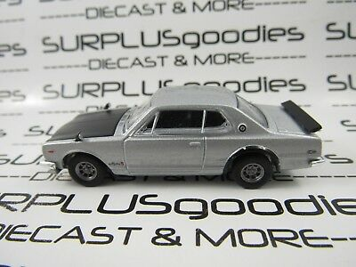Greenlight 1:64 LOOSE Collectible Silvr 1972 NISSAN SKYLINE 2000 GTR Diorama Car