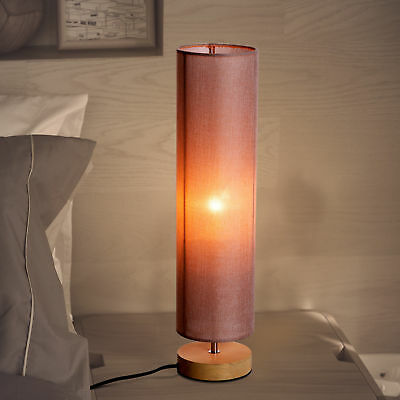 HOMCOM Table Lamp Light Living Room Lighting Linen Lampshade with Wooden Stand