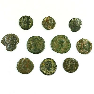 Ten (10) Nicer Ancient Roman Coins c. 100 - 375 A.D. Exact Lot Shown rm3307