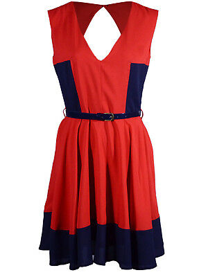 Ali-market Brand New Fashion Womens Sexy Back Party V-neckline Red Dress