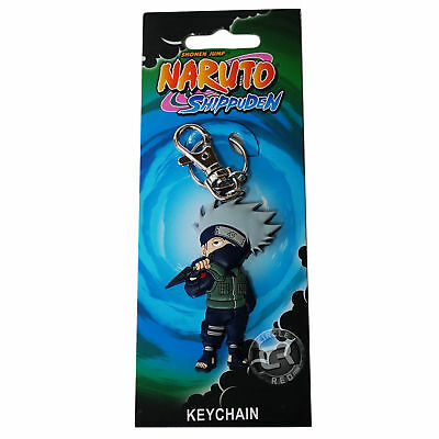 Naruto Shippuden Chibi SD Kakashi with Kunai PVC Key Chain New Official Licensed