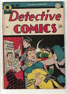 DC  Detective Comics BATMAN Golden age #107 1946  3.5 vg-