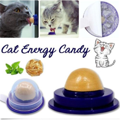 Fashion Cat Snacks Catnip Sugar Candy Licking Solid Nutrition Energy Ball Toy HS