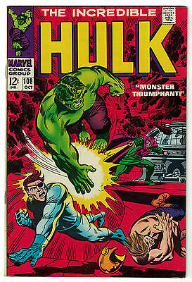 Marvel Comics THE INCREDIBLE HULK Issue 108 Monster Triumphant VF 8.0