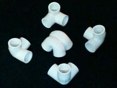 "Russian Style Meditation Pyramid PVC Plastic Connector Kit For 1/2"" USA PVC Pipe"
