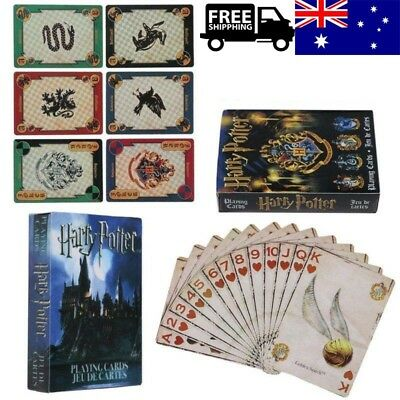 Harry Potter Playing Cards Symbols Hogwarts House Crests Toy Funny 2 Style